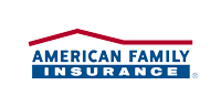 A Blue and Red Version Of American Family Insurance Logo